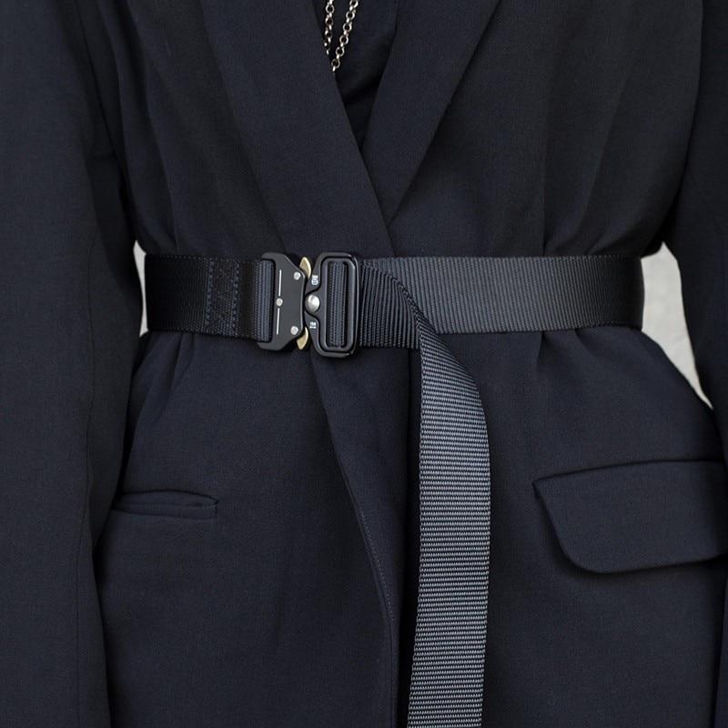 New Street Dark Wind Tactic Canvas Belt Fashion Casual Women Belts