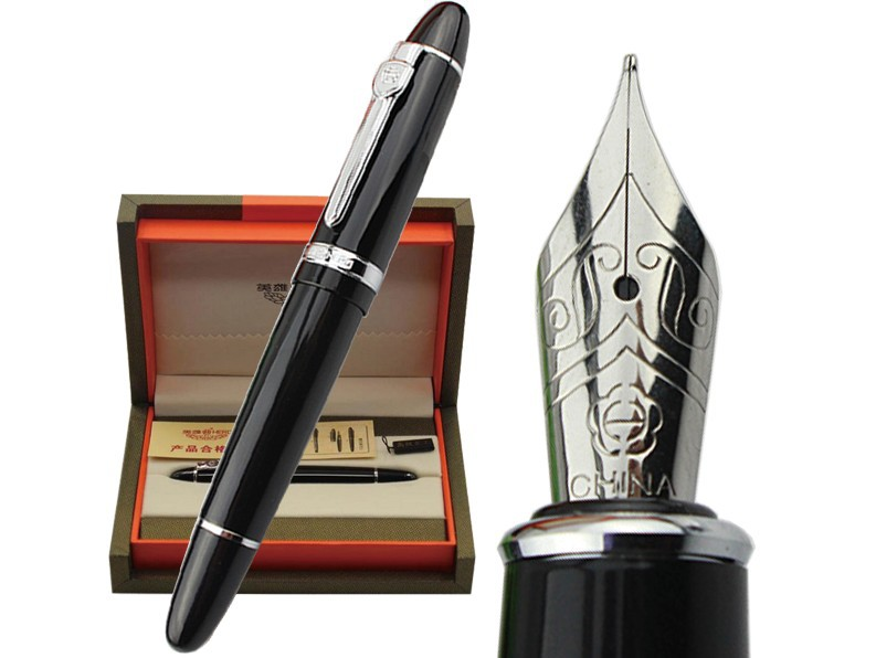 Fountain pen Black  HERO 1060 standard signature  pen office and school stationery  Free  ShippingFountain pen Black  HERO 1060 standard signature  pen office and school stationery  Free  Shipping