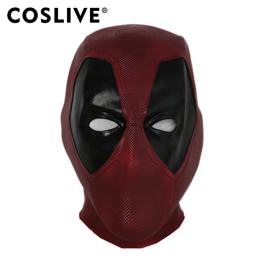 Coslive Halloween Movie Cosplay Deadpool Mask Full Head Latex Flexible Helmet Cosplay Costume Accessory for Carnival Party