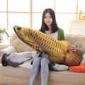 30-120 cm Creativo Dragonfish Peluches 3D Peces Impresión Almohada Cojín de Peluche de Felpa Muñeca de Trapo de regalo de Navidad Para niños