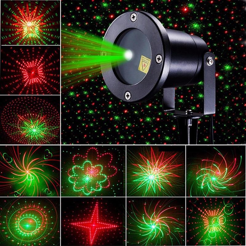 patrones de lser luz de la estrella duchas efecto de movimiento remoto luz ip impermeable