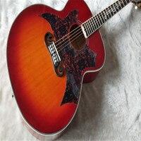 New custom Firehawk elvis Presley SJ200 original acoustic guitar wine red, big guard board free delivery.