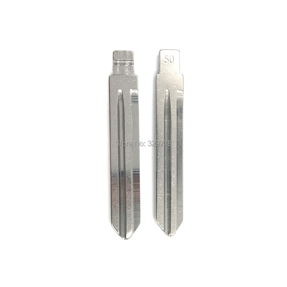 10pcs/lot Universal Metal Blank Uncut Flip KD Remote Key Blade Type #50 for <font><b>Huyndai</b></font> Elantra NO.50 Blade image