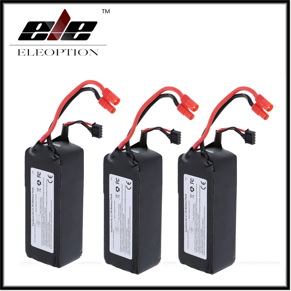 3 PCS Eleoption RC 11.1V 5200mAh 10C LiPo Battery 3S with 3.5mm Banana Bullet Plug for Walkera QR X350 PRO jada гарри поттер фигурка harry год седьмой