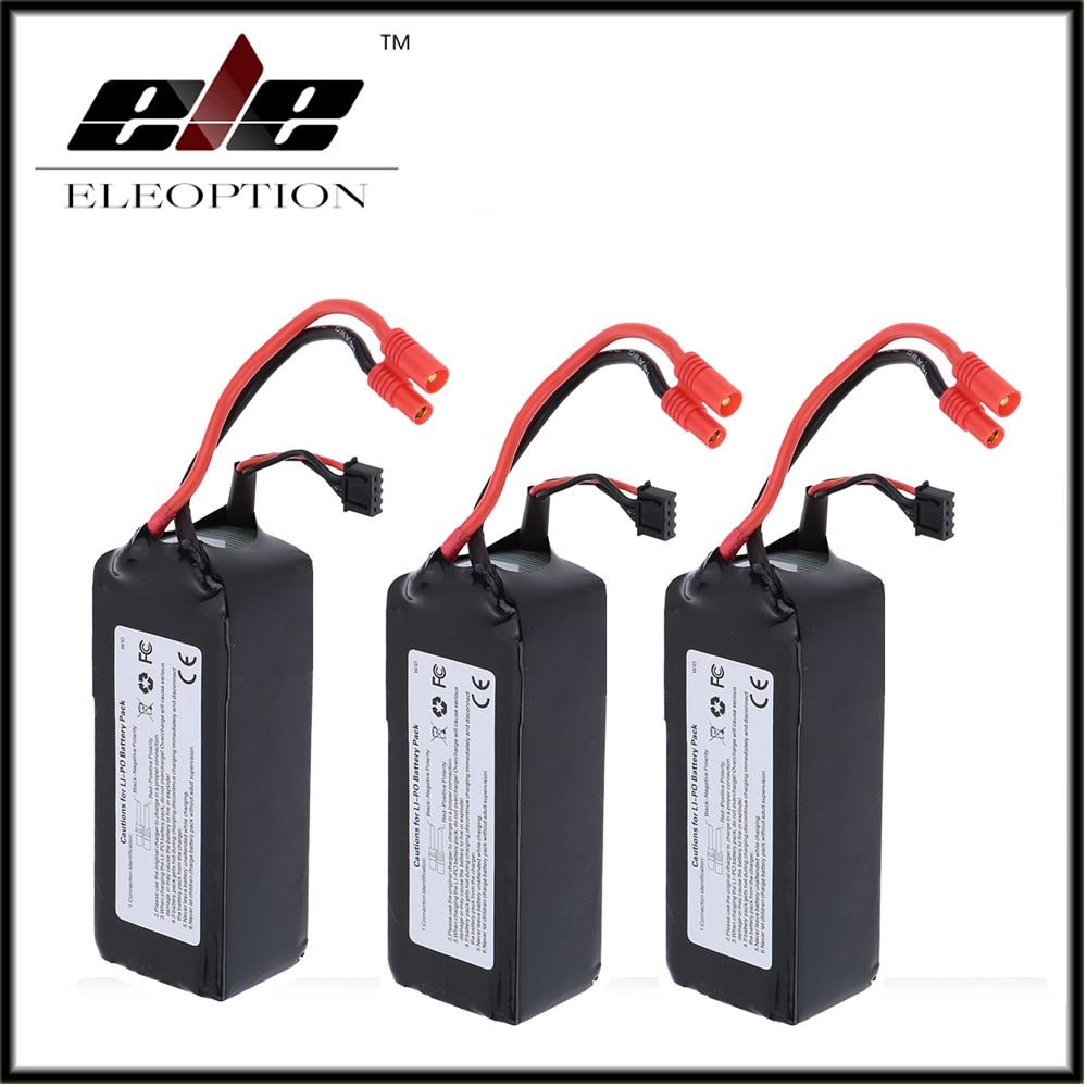 3 PCS Eleoption RC 11.1V 5200mAh 10C LiPo Battery 3S with 3.5mm Banana Bullet Plug for Walkera QR X350 PRO qr x350 z 05 fixing block parts for walkera qr x350 pro