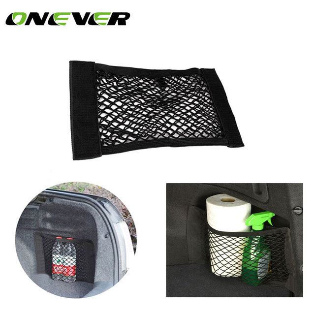 Onever Car Rear Trunk Storage Bag Fixing Mesh Trunk Elastic Pocket Net Bag Auto Storage Bag Cage Car Organizer