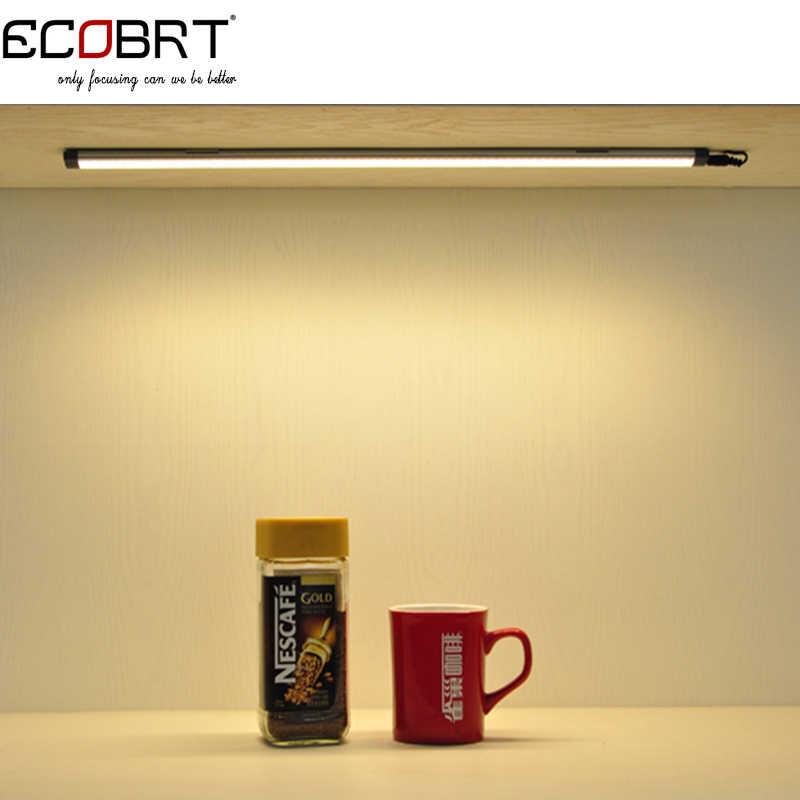 20 дюймов Алюминий Сенсорное вкл лампы для шкафа 50 см в длину 5 Вт светодиодные линейные ручка для шкафа фары 12 v/24 v DC с переключателем датчика 2 шт./лот