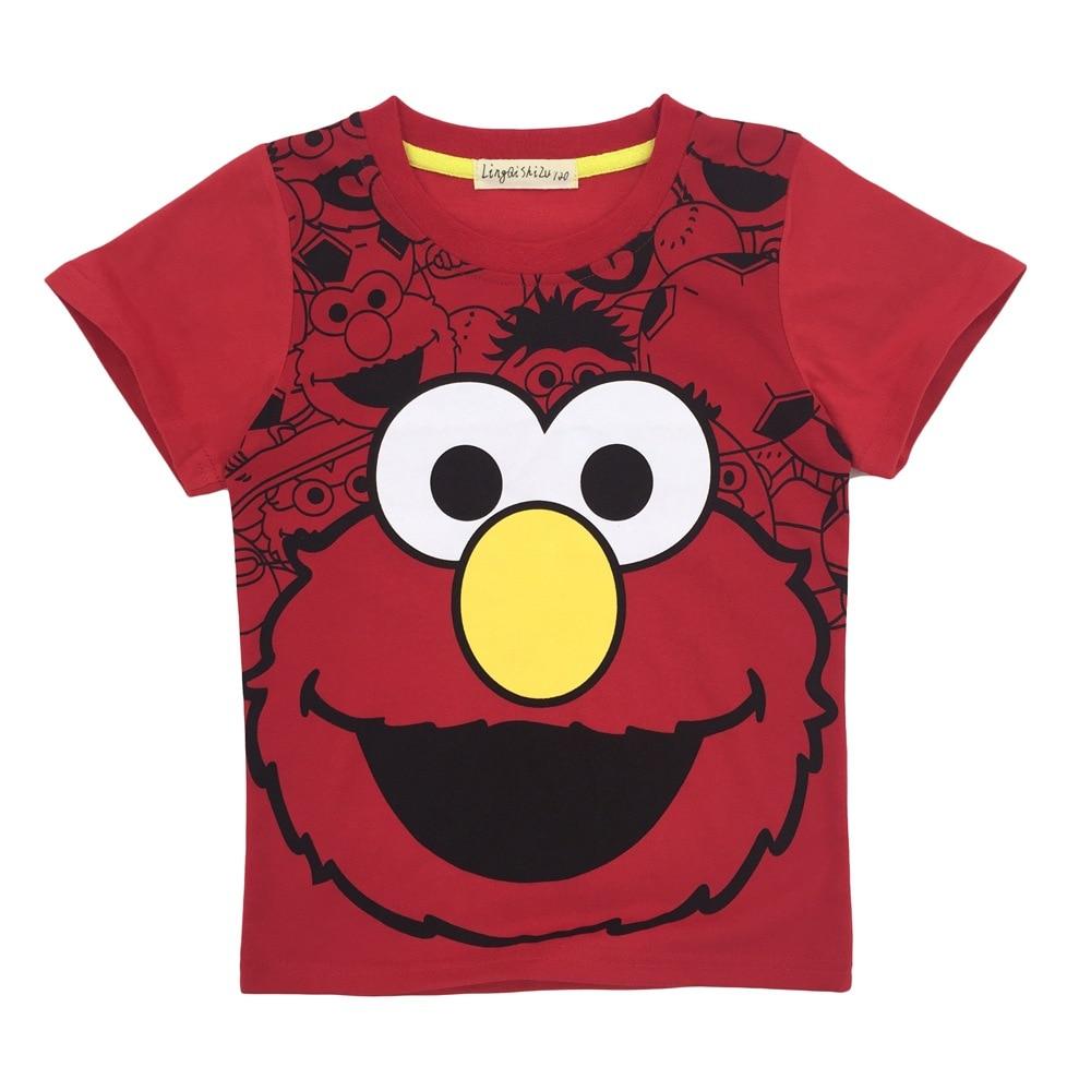 2018 New Childrens Sesame Kids Boys T-shirt Baby Girls Summer Tops Tees Cartoon Tshirt Kids Clothes Tshirt for 3-9Y