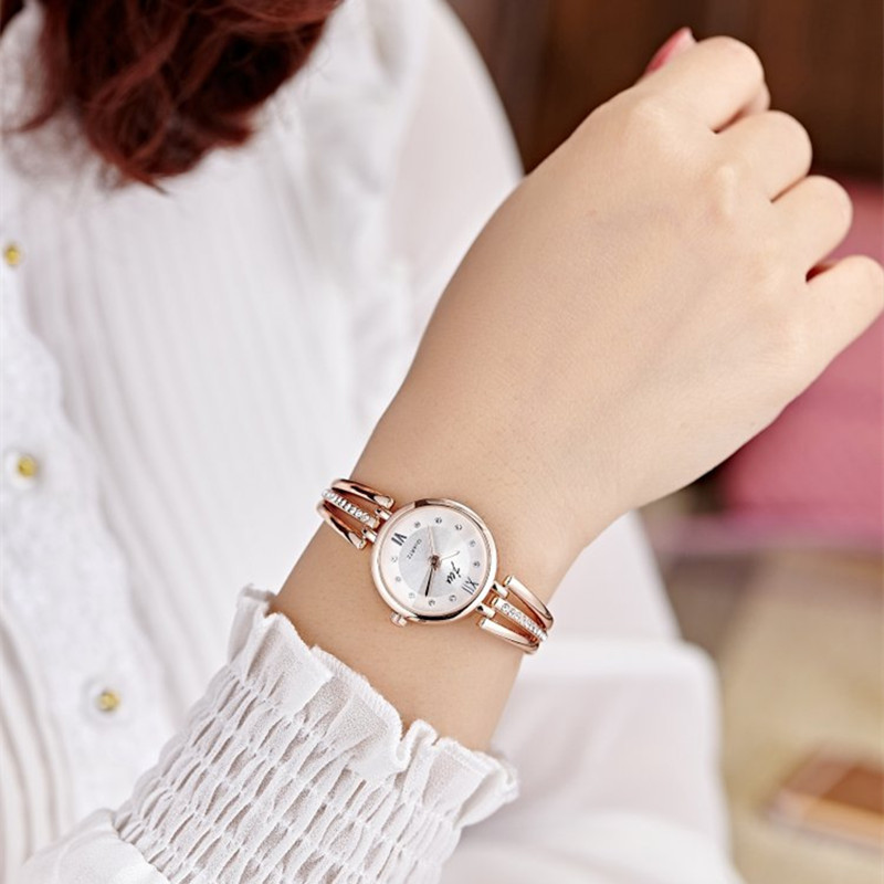 New Fashion Rhinestone Watches Women Luxury Brand Stainless Steel Bracelet watches Ladies Quartz Dress Watches reloj mujer Clock 4