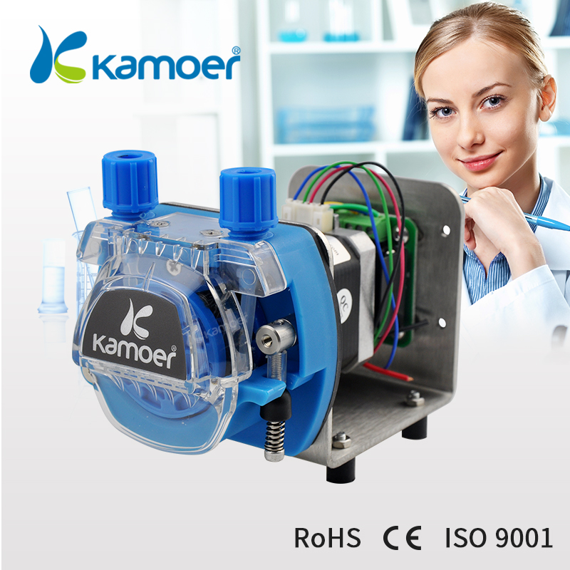 Kamoer new arrival hot selling KCM-ODM 12/24V stepper motor peristaltic pump ( 13.5~320ml/min, 4/8 rotors ) industrial peristaltic pump n6 3l 0 211 3600 ml min 0 1 600 rpm rs485