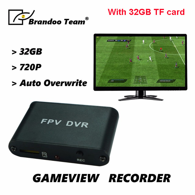 HD 1CH FPV SD DVR Mini Size Game View Recorder with 32GB SD Card,free shipping