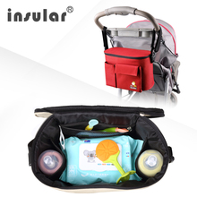 Insular Free Shipping Baby Diaper Changing Bag Mommy Thermal Insulation Bags For Baby Strollers Waterproof Baby Nappy Bags