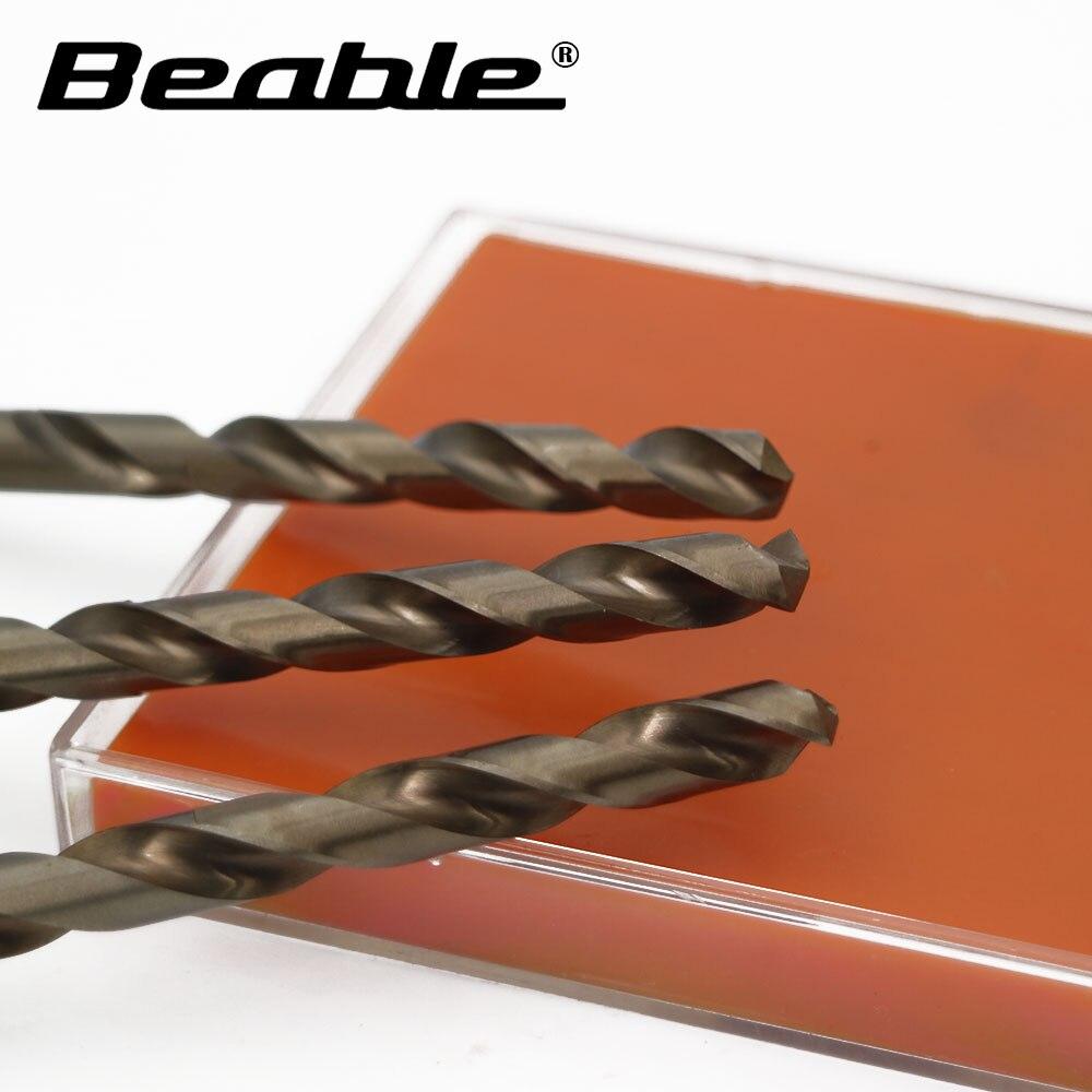 Beable tool twist drill M35-8.0MM 10PCS HSS cobalt drill tools steel set for metal cnc drill bits drilling Bit drillforce 5pcs 7 16 cobalt twist hss drill bits metalworking tools drilling for metal mild steel copper aluminum zinc alloy