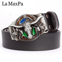 Fashion women & men leather belt cowboy