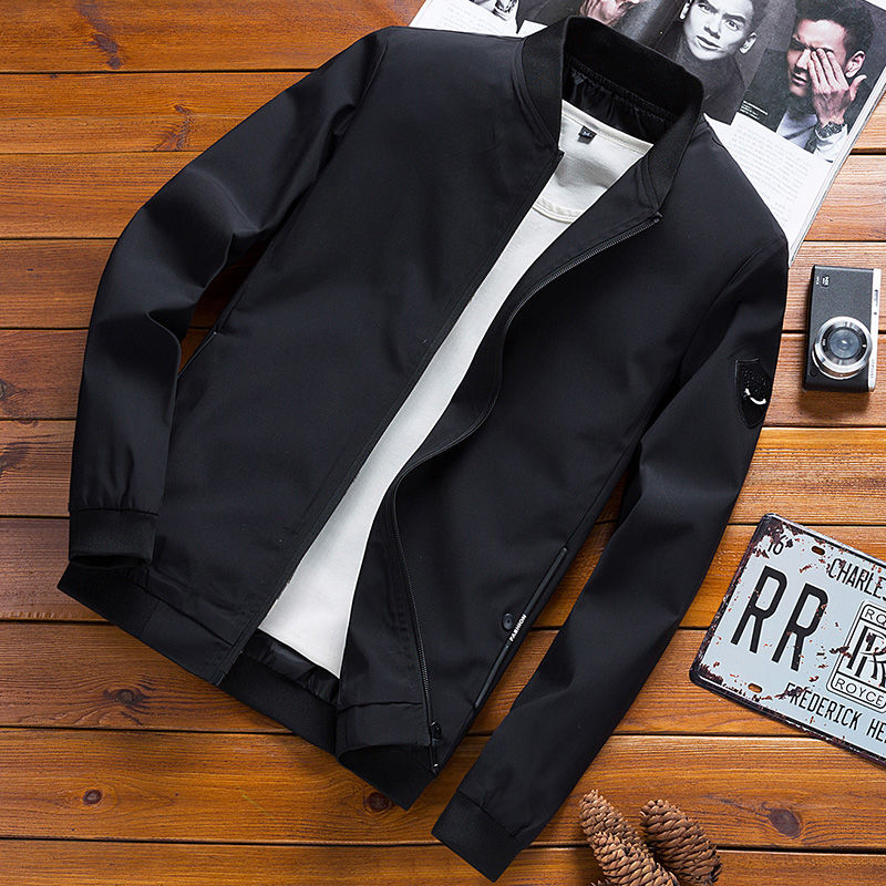 2019 Fashion 2019 Spring Autumn Casual Solid Fashion Slim Bomber Jacket Men Overcoat Baseball Jackets Mens Streetwear Jacket M-4xltop Dependable Performance Men's Clothing