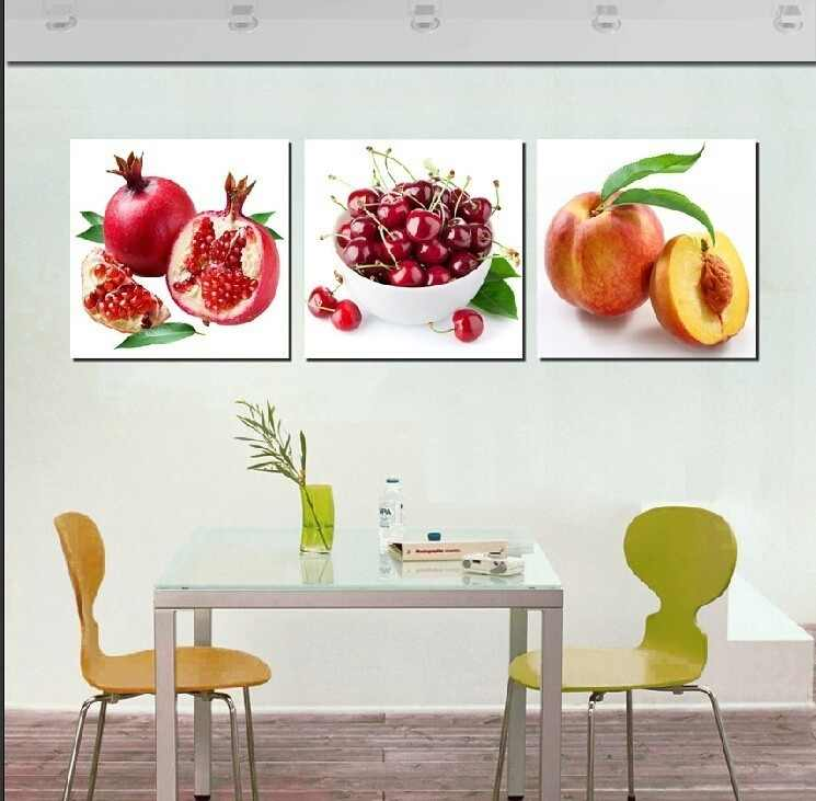 3 Panel Canvas Painting Wall Pictures For Living Room Modular Paintings  Decoracion Oil Paintings Fruit Picture