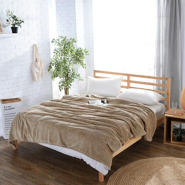 Drop Shipping new arrival Solid Blanket Fleece Blanket Throws Sofa ...