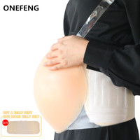 ONEFENG New Style Skin Artificial Fake Silicone Jelly Belly Baby Bump Doll Pregnant Belly 1000 1500g/pc