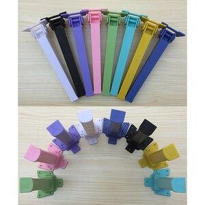 Image 1 - 4 Pcs H30CM Đầy Màu Sắc Bảng Xếp Nhựa Chân Máy Tính Cà Phê Gấp Bảng Chân Đồ Nội Thất RV Trẻ Em Bảng Với Vít