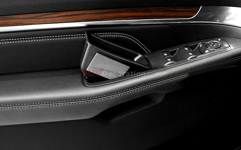 2016 2017 2018 Accessories New Arrival!! For Ford Explorer Interior car Door Handle Storage Box Cover organizer 4pcs