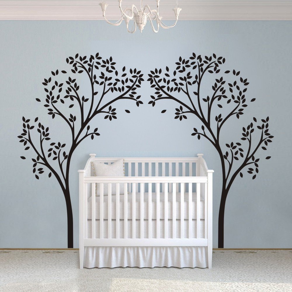 Aliexpress.com : Buy A12 Tree Canopy Portal Wall Decal Tree Wall Sticker  Vinyl Nursery Wall Decor Wall Graphic Home Art Decoration White From  Reliable Wall ... Part 46