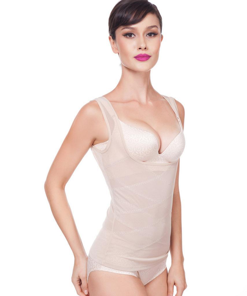 Sculpting Vest Women abdomen Body Corset Net Yarn Skinny Slimming Strimmer Cross Belly Fat Contro Body Shaper Femal Underwear (10)