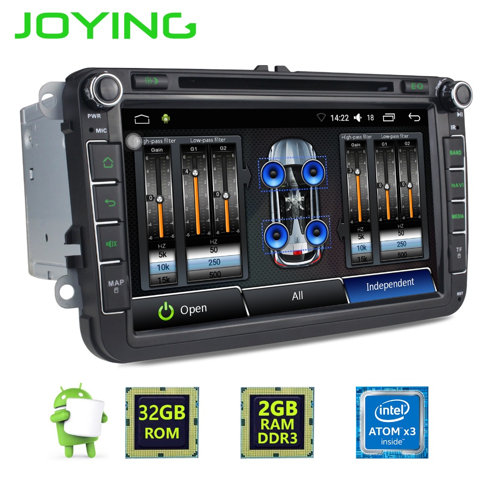 8 joying 2 din android 6 0 car radio stereo for vw skoda. Black Bedroom Furniture Sets. Home Design Ideas