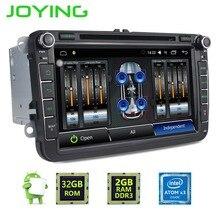 """8 """"Joying 2 Din Android 6.0 GPS de Navegación de Radio Estéreo Del Coche Para VW Skoda Polo Reproductor Multimedia amplificador Digital"""