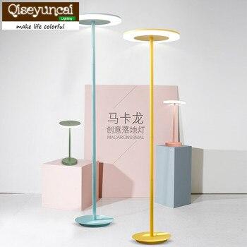 Qiseyuncai Moderna Minimalista Norte Macarons Cor Quente Sala De Estar Quarto Estudo Lâmpada De Cabeceira Lâmpada De Escritório Lâmpada De Assoalho Levou