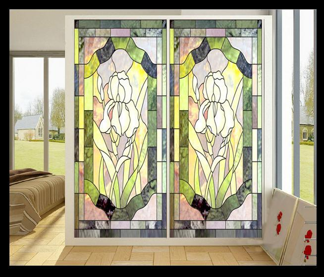 Free Color Window Painting Art Pvc Sticker Retro Church Glass Closet Cupboard Door Stickers In Wall From Home Garden On Aliexpress Com