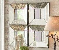 Современные зеркальные Настенный декор конические квадратных творческий зеркало оформлена стены искусства