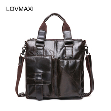 LOVMAXI Leder herren Taschen Casual Leder Schultertasche Echtes Leder herren Vintage Handtaschen Business Messenger Bag Aktentaschen