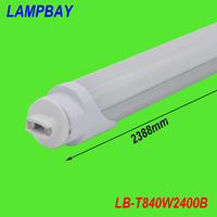 (4 Pacote) frete grátis lâmpada led tubo 8ft f96 ho base r17d único pino 40 w 110 v para substituir philips fluorescente luminária 85-277 v