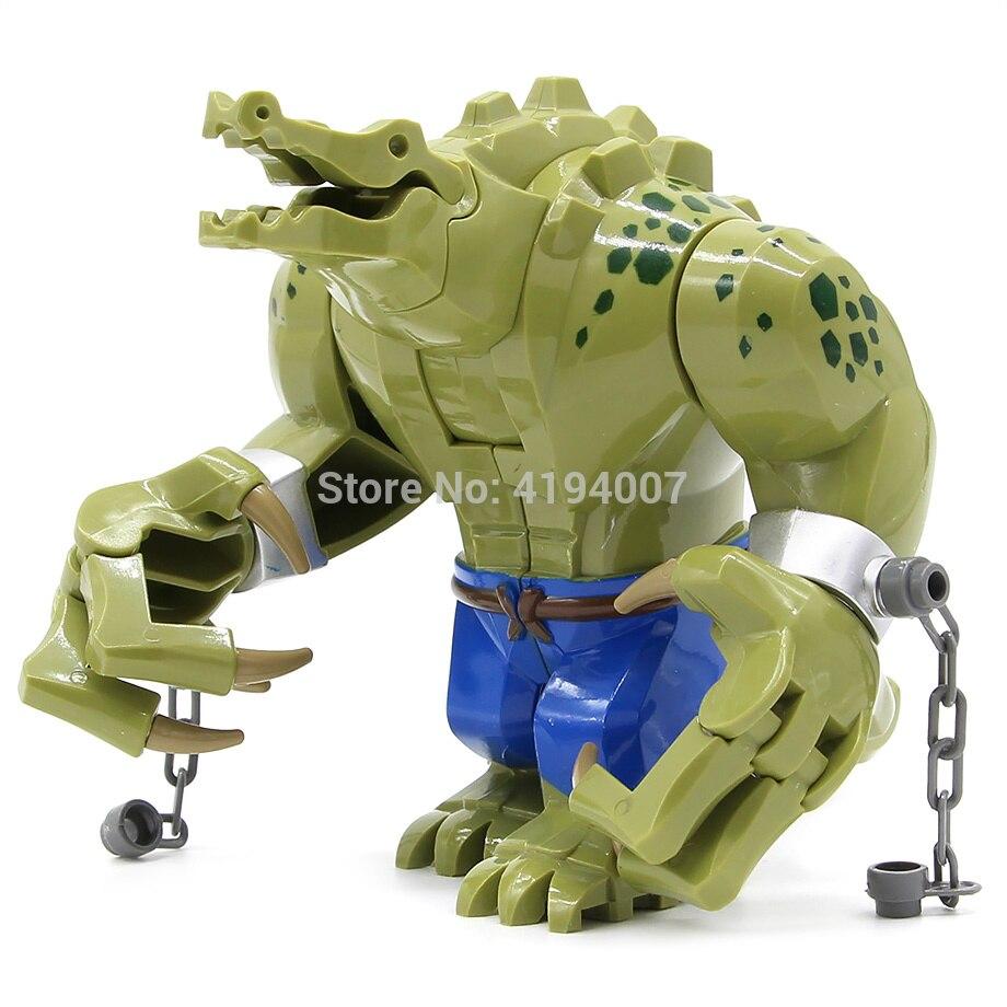 Crocodile Killer Blocks Compatible With Legoinglys Figure Killer Croc Animal Building Blocks Plastic Toys For Children