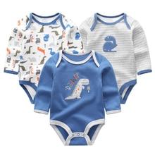 Clothing Bodysuits Baby-Girls Jumpsuit Long-Sleeve Boys Cartoon Summer Cute O-Neck Cotton