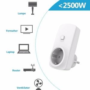Image 4 - ワイヤレスソケット EU プラグアウトレットミニポータブルリモコン 200 メートル光ファンホームデバイス 10a 無線 Lan なしアプリ簡単 tp 使用