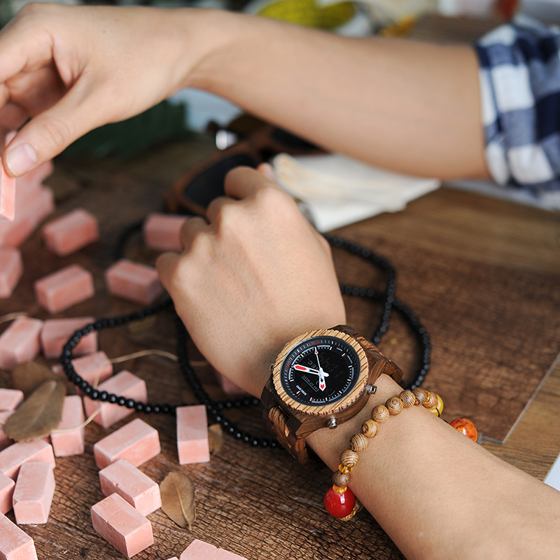 99W_6030men's wooden watch