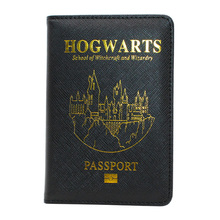 HEQUN Popular Rfid Passport Holder Unisex Super Hero Harry Potter Passport Cover Pu Leather Travel Passport Case Customized New(China)