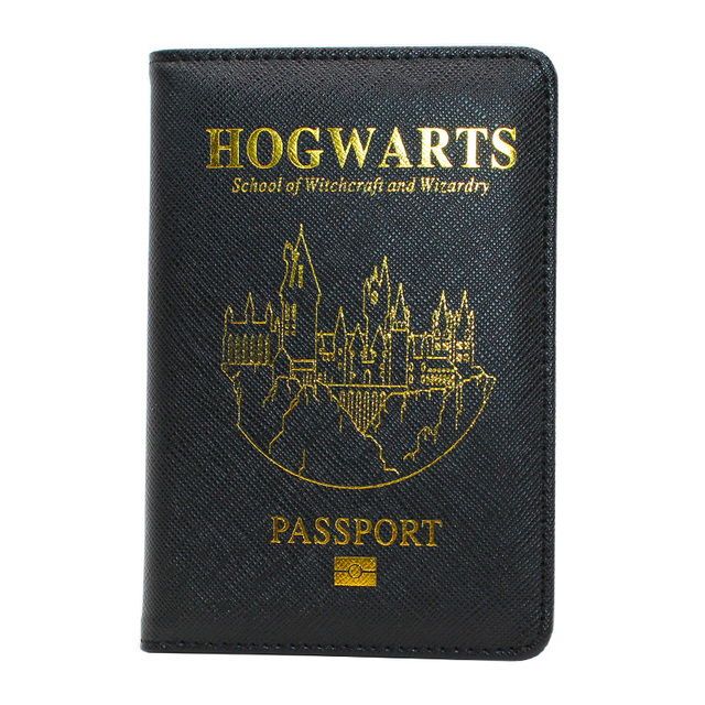 HEQUN Popular Rfid Passport Holder Unisex Super Hero Harry Potter Passport Cover Pu Leather Travel Passport Case Customized New