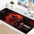 Msi mouse pad grande xxl gamer anti-derrapante almofada de borracha gaming mousepad para teclado computador portátil velocidade do mouse mouse tapetes de jogo de mesa