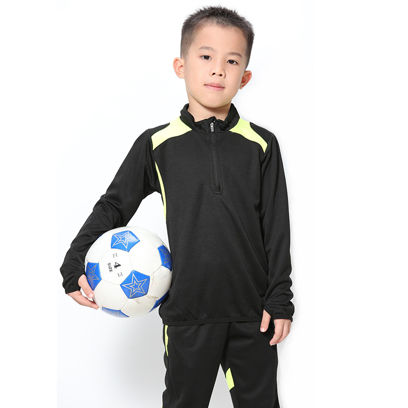 2019 Boys Long Sleeve Football Jersey Set Kids Training Tracksuit School Football  Uniforms Soccer Black Red Blue Orange Green-in Clothing Sets from Mother ... ef321bcad
