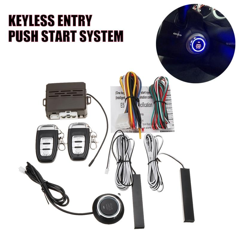 Télécommande de voiture système d'arrêt de démarrage sans clé bouton poussoir Anti-vol bras RFID ou désarmer démarrage automatique arrêt haut-parleur alarme