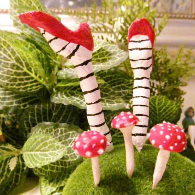 Witchu0027s Shoes Mushroom/fairy Garden Gnome/moss Terrarium  Decor/crafts/bonsai/