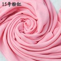 Top Fashion Pink Female  Acrylic Cape Shawl Fringe Long Large Pashmina Solid Color Muffler Size 180 x 69 cm PM010