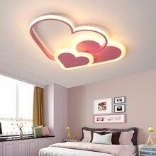 цена на Modern led ceiling light star new lighting bedroom lights for children room kids baby room home AC85-265V pink ceiling lamp
