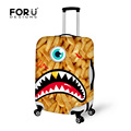 FORUDESIGNS 2016 New Durable Luggage Protective Cover Animal 3D Printing Travel Luggage Cover Suitcase Protective Cover  Case