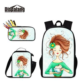 Most Popular Shoulder Bags with Lunch and Pencil Case Bag for Kids Pretty Backpack Kindergarten Preschool School Toddler Bags