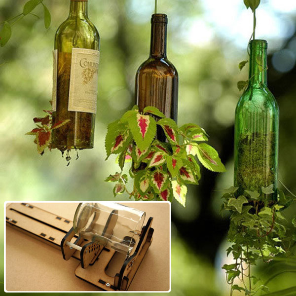 how to cut glass bottle with glass cutter