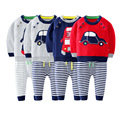 Baby sweater set 2016 autumn winter fashion cartoon cars newborn baby cotton suit baby sweater coat + pants trend baby suit