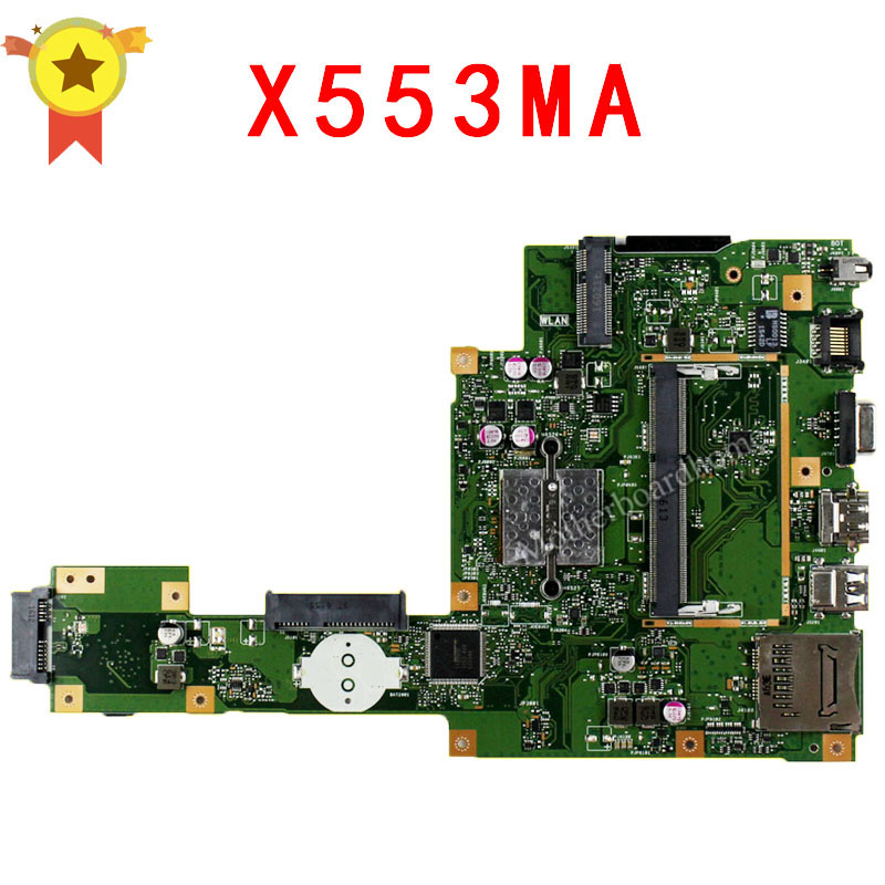 все цены на  For ASUS X553MA F553MA F553M A553MA X503M F503M D553MA D553M Laptop motherboard X553MA mainboard REV2.0 Integrated 100%tested  онлайн
